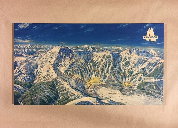 Kirkwood Mountain Resort Maple Wood Print