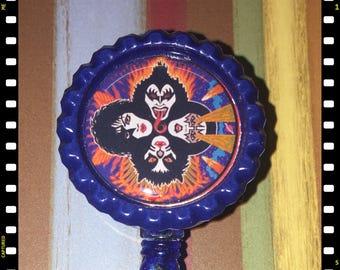 Kiss Rock & Roll Over ID Name Badge Pull Reel Lanyard