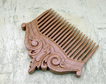 Wooden comb hair, Hair accessories of wood, Wooden comb, Wooden hair comb, Wood hair comb, Wood comb, Hair comb wood, Wood carving.