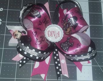 4in Diva Minnie Mouse Hairbow