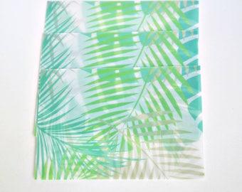 Translucent Summer Leaves Envelope Set, Letter Envelopes - LT021