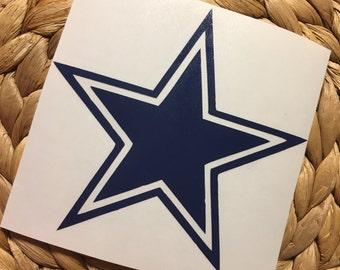 Dallas Cowboys Star Vinyl Decal