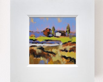 "Original landscape painting 12"" 12"", Little symphony by Antonello Plantamura, Express Shipping"