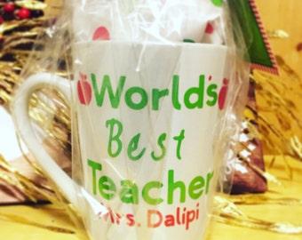 Personalized World's best teacher mug