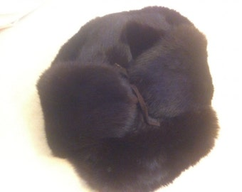 nature fur russian style hat, 58, men, outdoor, warm warm!