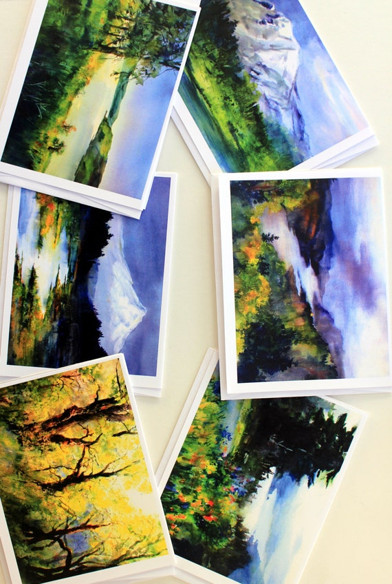 Vista House - note cards - card packs - watercolor cards - Bonnie White art - Bonnie White cards - landscapes - Vista House
