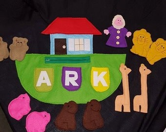 Noah's Ark Felt Playset Carry all