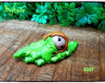 Handmade Sleeping Leaf Fairy Figurine ~  ~ One Of A Kind! (Item # S337)