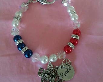 Patriotic handmade bracelet