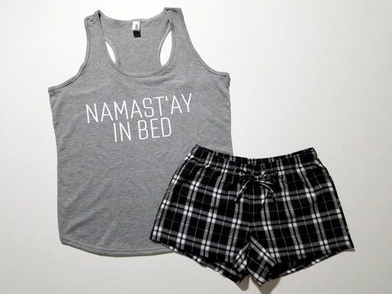 namast 39 ay in bed pajama set women 39 s tank top. Black Bedroom Furniture Sets. Home Design Ideas