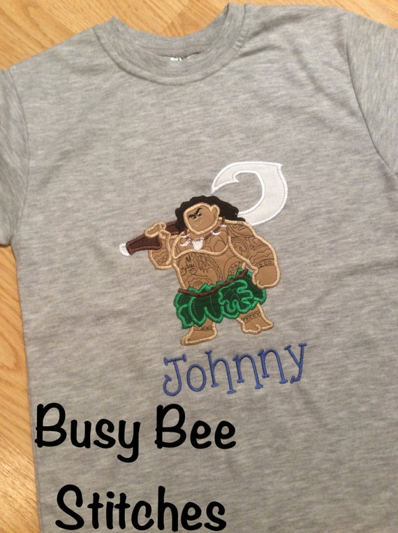 Disney Moana Personalized Embroidered Shirts