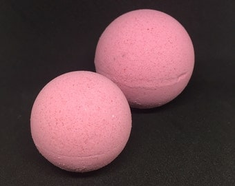 Persephone's Pomegranate Bath Bomb - 2.5 ounce Red Bath Fizzies