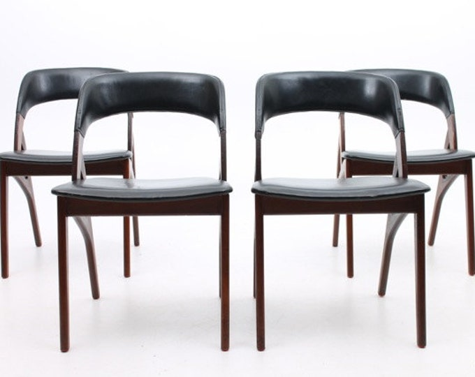 Danish Mid-Century Modern Rosewood Dining Chairs (set of 4)