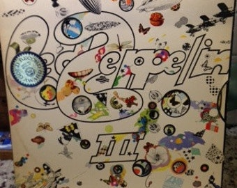 "Led Zeppelin- Led Zeppelin III, 33 rpm 12"" classic rock album, Led Zeppelin Records, ""Immigrant Song"", ""Friends"", Zeppelin records"