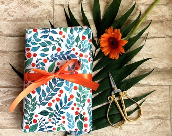 Gift wrap floral 5 he set