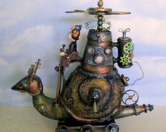 SE513E –  Slow Rider, Cloth and Paper Clay Steampunk PDF Art Doll Pattern and Project