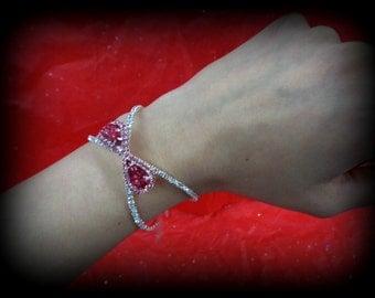 pink retro bracelets