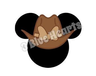 Cowgirl Minnie Mouse Head SVG dxf pdf Studio, Cowgirl Minnie, Cowgirl SVG dxf pdf STUDIo, Disney SVG dxf pdf Studio
