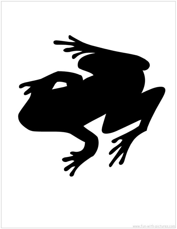 Pack Of 3 Frog Stencils Made From 4 Ply Mat Board 11x14