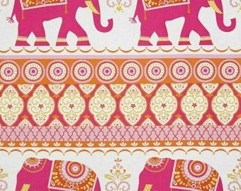 Pink Elephants Sheet - yellow/fitted/indie/crib or changing pad