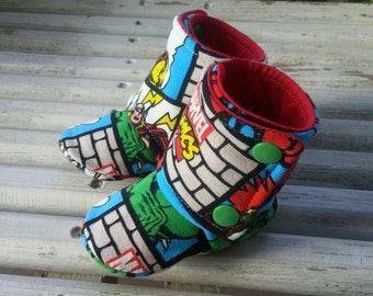0-6m ~ Marvel High Top Soft Soled Shoes