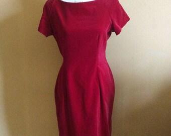 Next 1980/90s Velvet Wiggle Dress
