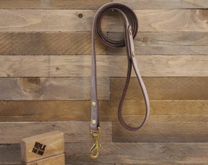 Leather leash, Foggy leash, Dog leash, Pet gift, Premium leather leash, Leather leash, Solid brass hardware, Premium leash.