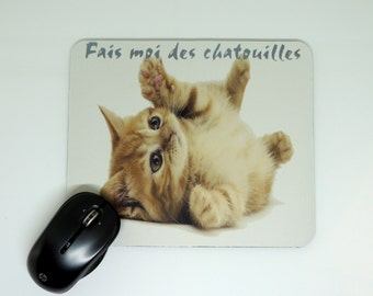 mouse pads, home deco office, kitten, home deco, computer illustration,.