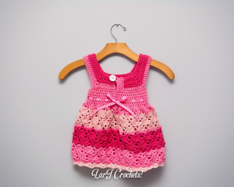 Caron Cakes yarn baby doll dress
