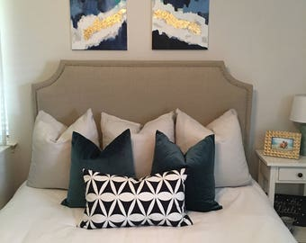 custom nailhead headboard