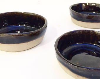 Ceramic stoneware tapas bowls