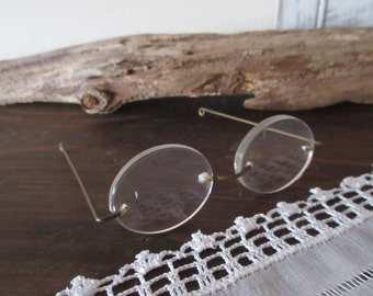 Doll Eye Glasses,Rimless Oval Lens 3 inch Doll Making Craft Supply Treasures