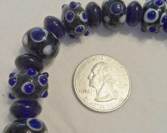 Lampwork Bumpy Beads (1930)