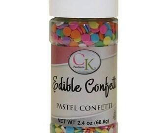 Edible Confetti Pastel Confetti - 2.4 oz