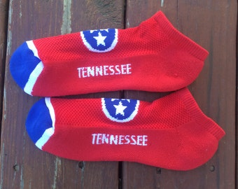 Tennessee Tristar Flag No Show Socks
