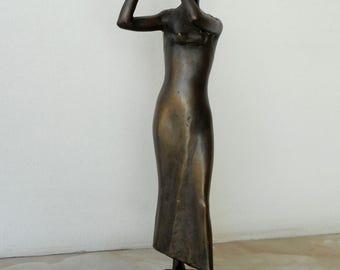 Home sculpture, Мodern sculpture, Bronze sculpture, Bronze statue of Flutist  , Limited edition, Small sculptural plastic