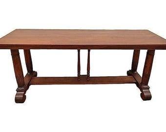 Oak Library Table
