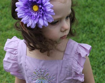 Beverly flower nylon headband