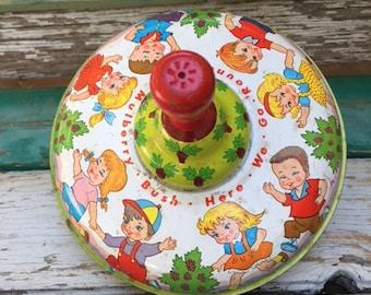 Vintage Ohio Art Child's Spinning Top - Mulberry Bush