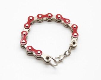 Recycled Bike Chain Bracelet jewellery, handmade, fashion, unique style