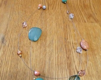 Handmade Floating Beads Necklace