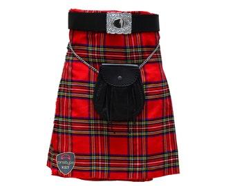 Onstyle Scottish Highland Active Men Utility Royal Stewart Kilts