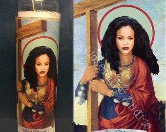Rihanna Devotional Prayer Saint Candle