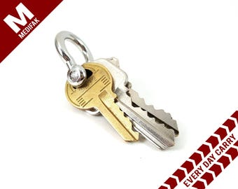 Every Day Carry Key Shackle Stainless Steel Colored Shackle EDC Gear Key Ring Keychain Attachment Men's Gift Key Chain Shackle Key Holder