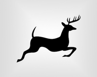 Running Deer Svg, buck, Cutout, Vector art, Cricut, Silhouette Cameo, die cut, instant download, Digital Cut, Print Files, Ai, Pdf, Svg