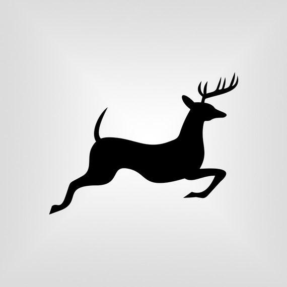 running deer svg buck cutout vector art cricut silhouette cameo die cut instant download digital cut print files ai pdf