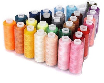 Multi-Colors Polyester Sewing Thread, SET A 100 Thread Spools on 300 Meter Spool Handicrafts