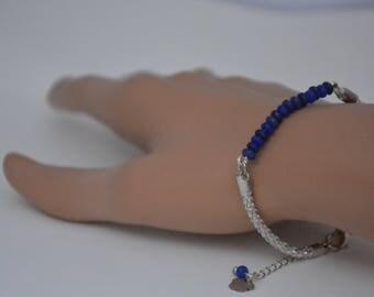 """Blue dream"" silver bracelet"