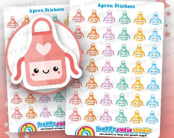 42 Cute Apron/Cooking/Baking/Meal Planner Stickers, Filofax, Erin Condren, Happy Planner,  Kawaii, Cute Sticker, UK