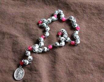 St. Michael Chaplet- Pink Little Flowers